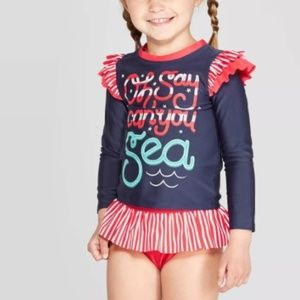 """Cat & Jack """"oh say can you sea"""" Infant Tankini"""